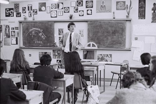 Darcy_Lange_Study_of_Three_Birmingham_Schools_UK_1976_-_Mr_Perks_Animal_Farm_English_Class_-_Ladywood_Comprehensive_School