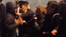 Police brutality during the eviction of the University of London protest last week