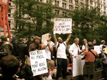 'Populism not Corporate Facism' - Occupation of Zuccotti Park New York, 2011