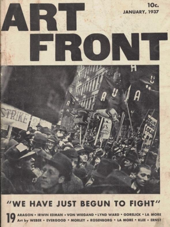 La cover di Art Front nel gennaio del 1937 (Fonte: Mute).