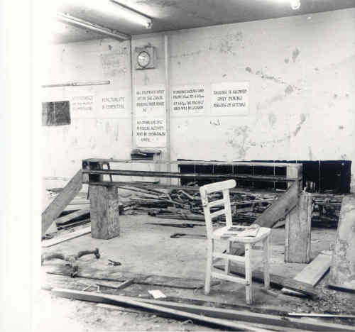'A'  Course, 'Sitting Project' 1971. Photo courtesy of Peter Venn