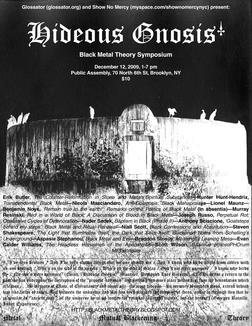 Poster for Hideous Gnosis - A Black Metal Symposium