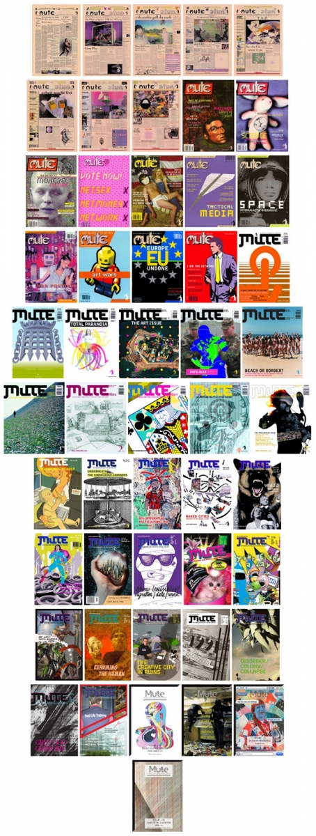 Mute covers: Mute pilot issue (1994) to Mute Volume 3 #4 (2014)
