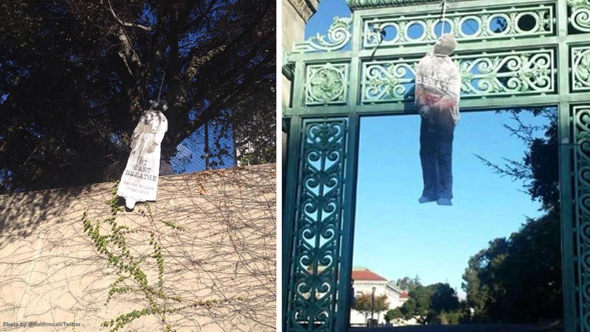 The lynching cutouts in UC Berkeley