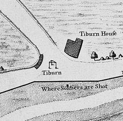 Ancient map of Tyburn