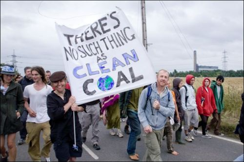 Climate Camp Caravan (There is no clean coal)