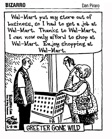 argument of wal mart President of countrybank usa, in north dakota, presents the fdic with concerns about wal-mart's maneuvers to go into the banking business.